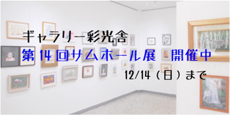 第14回サムホール展ギャラリー彩光舎にて12/14まで開催しております。油絵・日本画・パステルが他サムホールサイズの平面作品が13点以上集まりました。皆様のご来場お待ちしております。